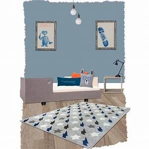 Deco Chambre Bebe Bleu : tapis bolt bleu rectangle par nattiot decoration chambre enfant enfant ~ Teatrodelosmanantiales.com Idées de Décoration