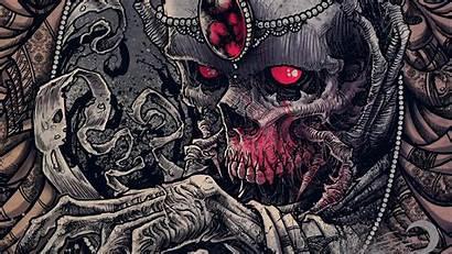 Skull Dark Wallpapers Skeleton Skulls Evil Artwork