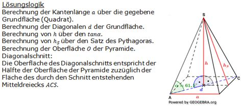 quadratische pyramiden realschulabschluss uebungsaufgaben