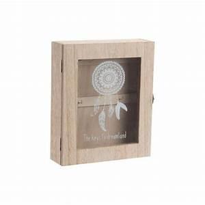 Boite A Clefs : bo te cl s en bois et verre avec motif attrape r ves ~ Teatrodelosmanantiales.com Idées de Décoration