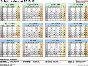 school calendars 2015 2016 as free printable excel templates With academic calendar template 2015 16