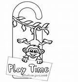 Hanger Monkey Door Printable Craft Doorknob Play Knob Drawing Crafts Template Hangers Templates St Coloring Pages Sc Getdrawings Homepage Fastseoguru sketch template