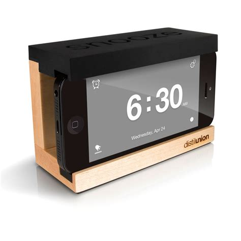 how is snooze on iphone distil union iphone snooze alarm clock black fab