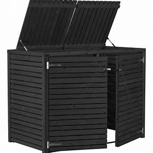 Cache Poubelle Brico Depot : cache poubelle double en bois avec couvercle l155xl83xh115 ~ Dailycaller-alerts.com Idées de Décoration