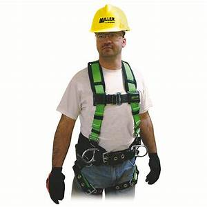 Miller Contractor Construction Worker Full Body Safety Harness