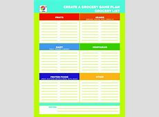 Template Grocery List Template