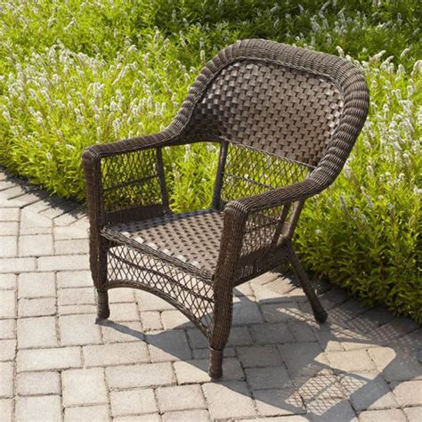 walmart patio furniture wicker mainstays stack wicker chair honey brown walmart