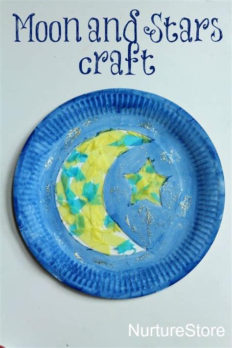 paper plate moon and ramadan craft nurturestore 469 | moon stars paper plate craft