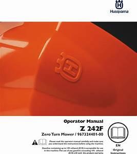 Husqvarna Z 242f Om  Z242f  96732440100  2014 10  Zero