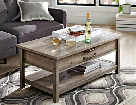 Reclaimed wood base with a distressed white finish. Rustic Coffee Tables That You Need to Have In Your Home
