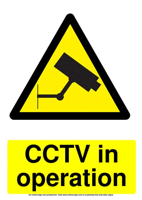 cctv signs poster template