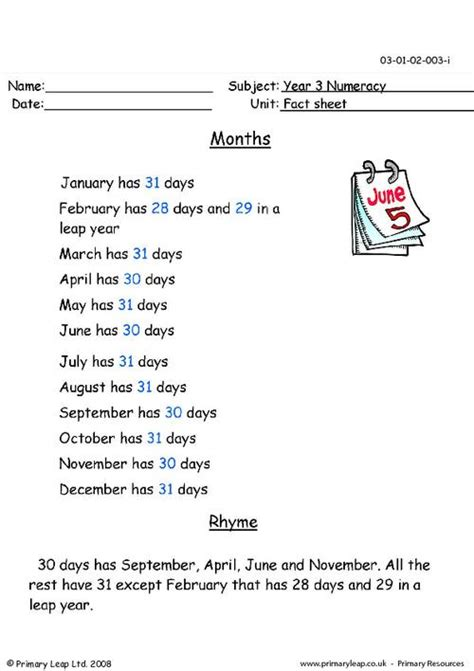 months of the year primaryleap co uk