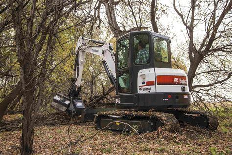 bobcat intros  flail mowers designed  excavators