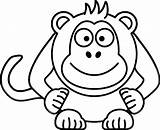 Monkey Coloring Pages sketch template