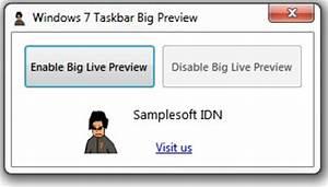 Windows 7 Taskbar Big Preview (Windows) - Télécharger