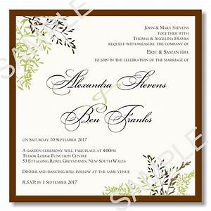 Wedding invitation wording samples pdf wedding invitation for Wedding invitation template for sale