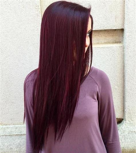 couleur cheveux mauve rouge coupes de cheveux  coiffures