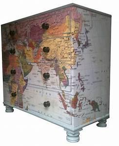 Papier Deco Meuble : relooker un meuble r cup avec un imprim de papier peint ~ Teatrodelosmanantiales.com Idées de Décoration