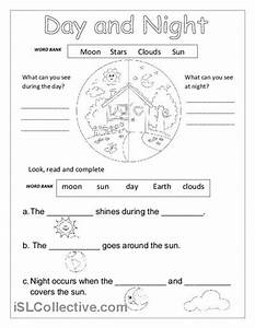 Day And Night Printable Worksheets For Kindergarten #1 ...