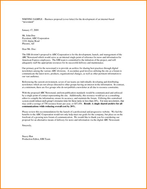 Business Cover Letter Template by Business Idea Template Doc Letter Outline Sle