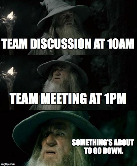Team Memes - my meeting lineup today imgflip