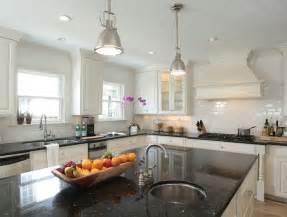 black granite kitchen island black granite countertops transitional kitchen goforth design