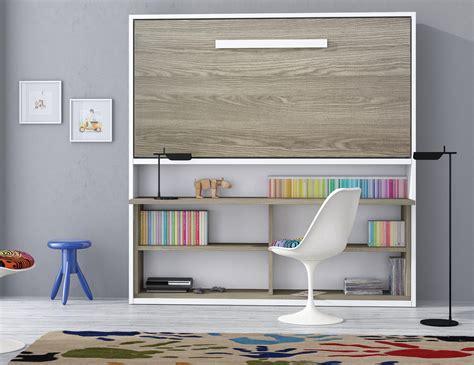 bureau dans armoire armoire lit spacio avec bureau couchage 90 190 20 cm