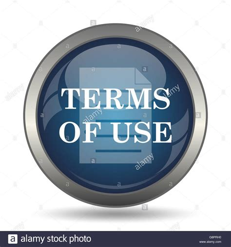 Terms Of Use Icon Internet Button On White Background