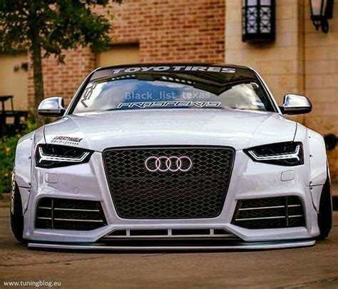 wide audi a5 s5 coupe with black rs6 headlights