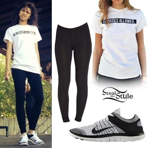 Zendaya u0026#39;No Basics Allowedu0026#39; Tee Outfit | casual outfits | Pinterest | Zendaya Clothes and ...