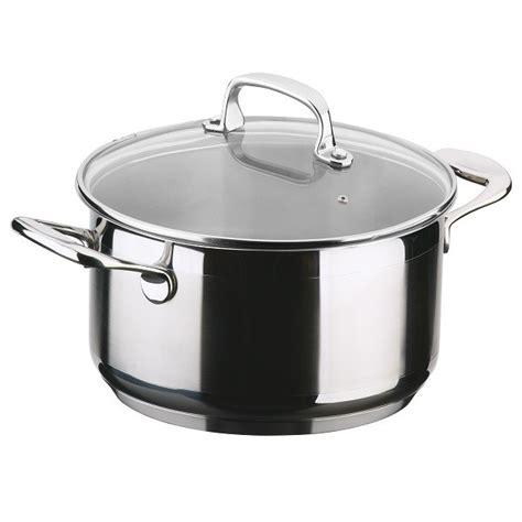 faitout et cuisine faitout en acier inoxydable olimpia avec couvercle en