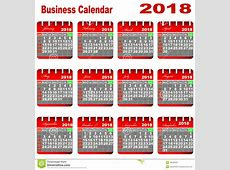 Calendrier 2018 D'affaires Photo stock Image 48593352