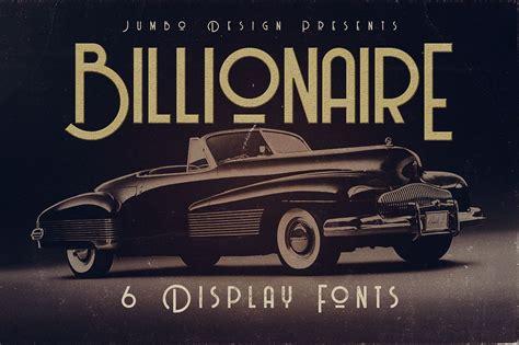 billionaire display font befontscom