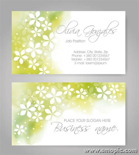 light green abstract pattern business card cover