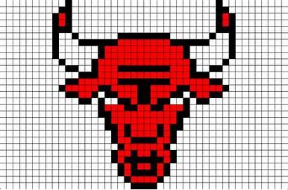 Pixel Bulls Chicago Template Nba Brik Likes