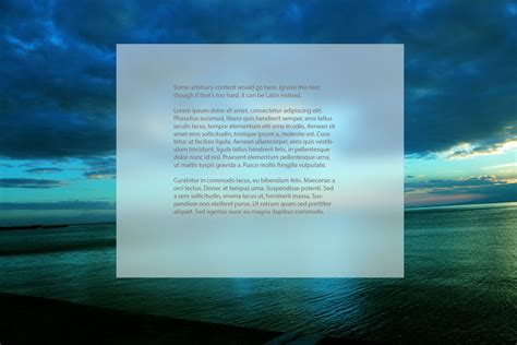 Blur Background Css Javascript How Do You Apply A Blurry Background Using