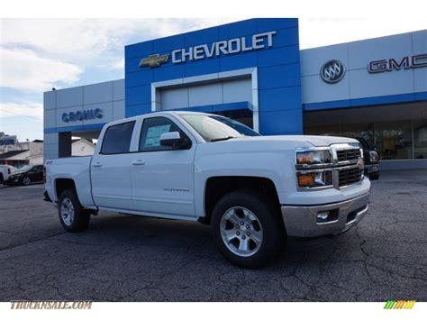 chevrolet silverado  lt  crew cab  summit white  truck  sale