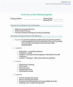 one on one meeting sample questions and 2 best agenda With one on one staff meeting agenda template
