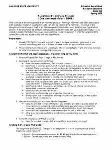 242 assignment 1 interview protocol interview With qualitative research interview protocol template