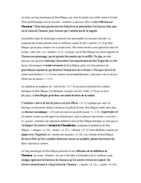 le cid commentaire compos 233 acte 1 sc 232 ne 4 lyceenet fr