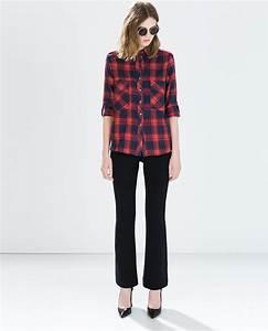 1000 idees a propos de chemises a carreaux rouges sur With zara femme chemise a carreaux