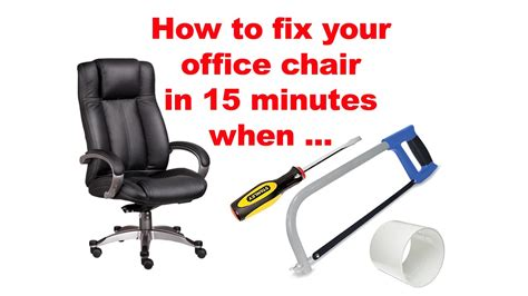 office chair keeps sinking how to fix your office chair in 15 minutes when pneumatic