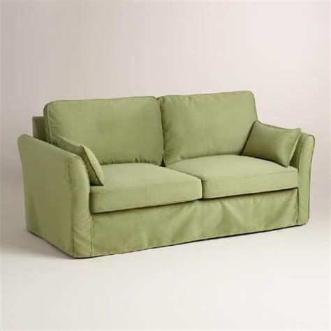 World Market Khaki Luxe Sofa by Oregano Green Velvet Fit Luxe Sofa Slipcover World