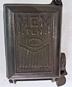 Details About Vintage Mem Ten Switch Gear Ceramic Fuse Box England Cast Iron On  Off Switch In