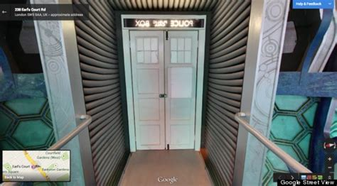 google opens  door   tardis  doctor