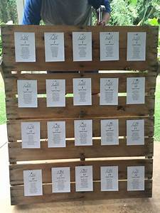 Wedding Pallet Seating Chart