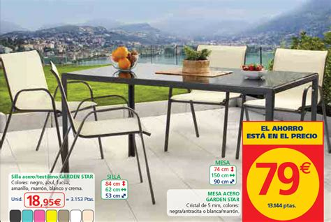 mesas  sillas jardin carrefour fresh catalogo carrefour