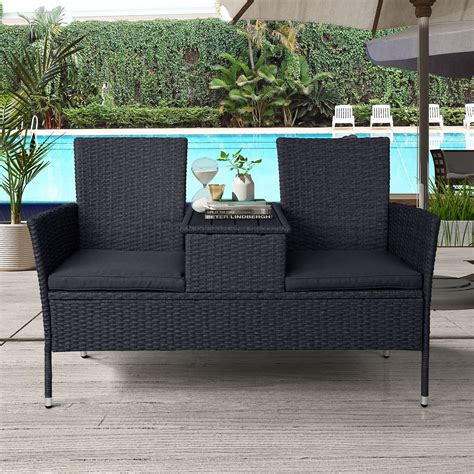 Our team of experts has selected the best patio furniture sets out of hundreds of models. TKOOFN Rattan Outdoor Furniture Patio Conversation Set 2-Person Chat Set Wicker Sofas with ...