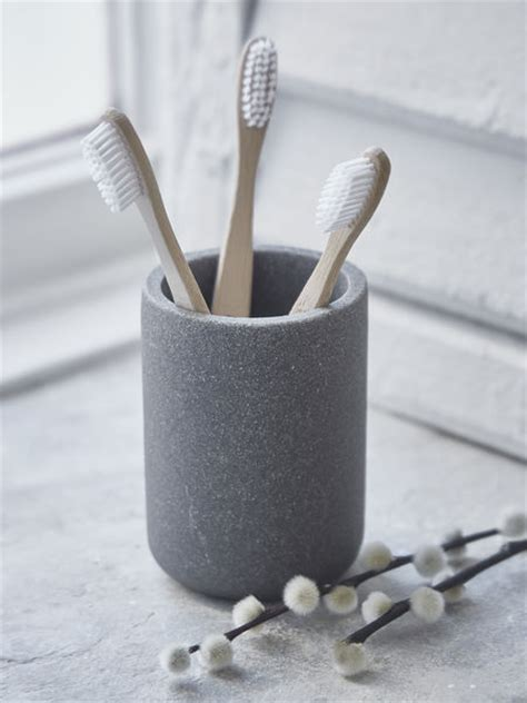 toothbrush mug concrete grey
