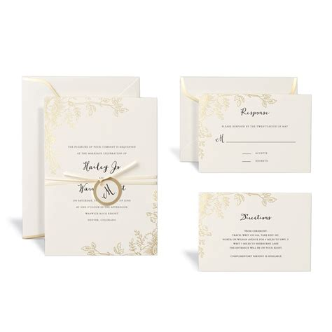 shop for the floral gold wedding invitation kit by